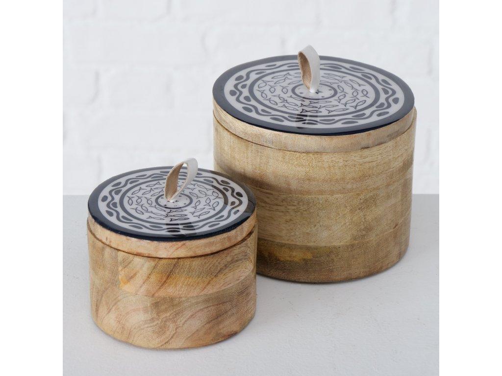 Set dvou dřevěných dóz KUBA