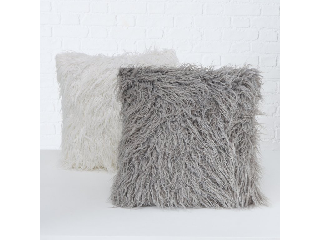 Příjemný povlak na polštář MALMO, tmavě šedá