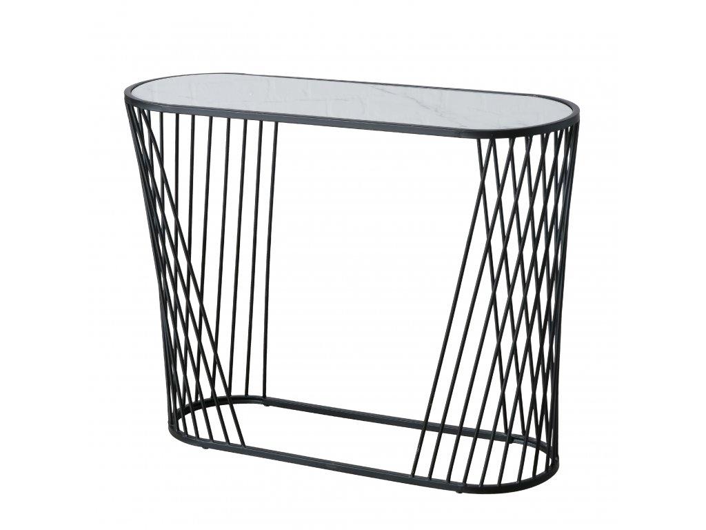 Kovový designový stolek ONYX