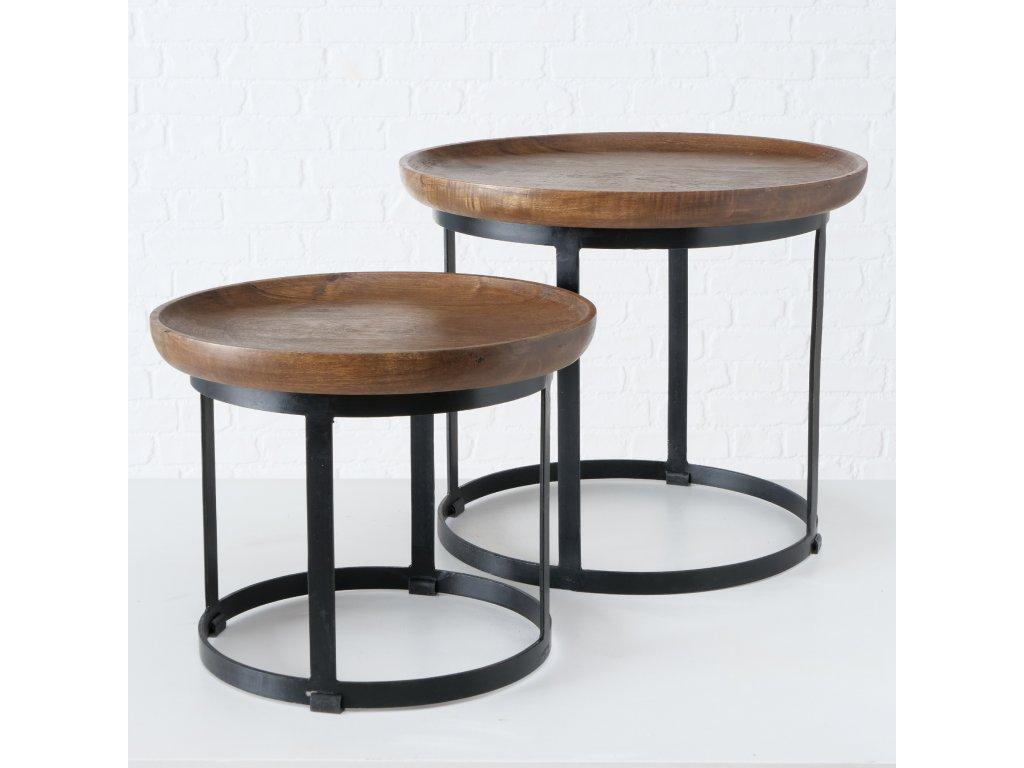 Konferenční stolky KERRY s masivní dřevěnou deskou