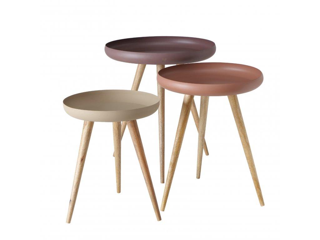 Konferenční stolky MASDOUR v kombinaci tří barev