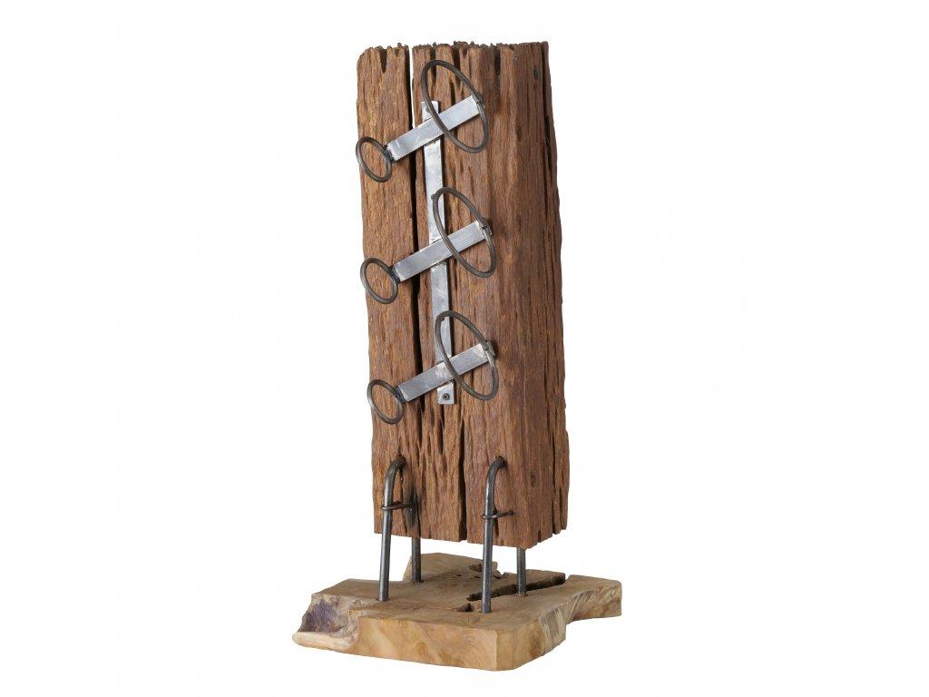 Dřevěný stojan na víno MERLOT