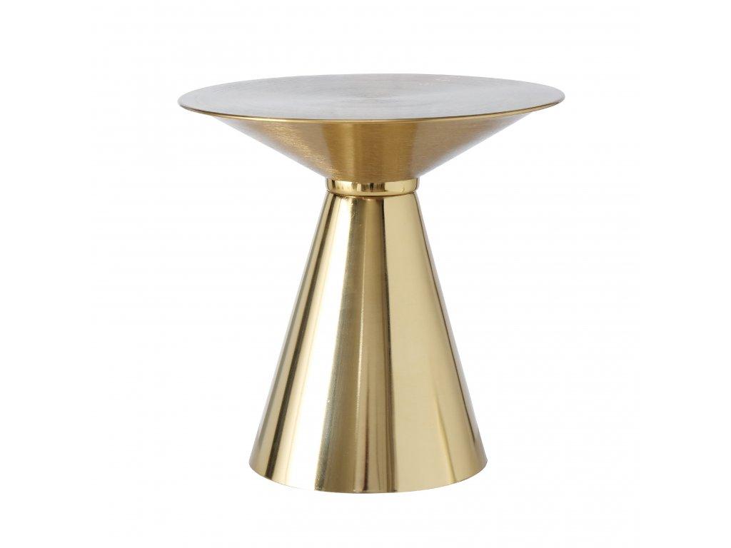 AGATA Odkládací zlatý stolek