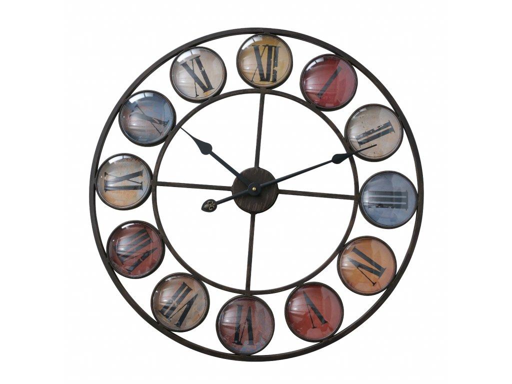 Kovové hodiny v černé barvě Torrano