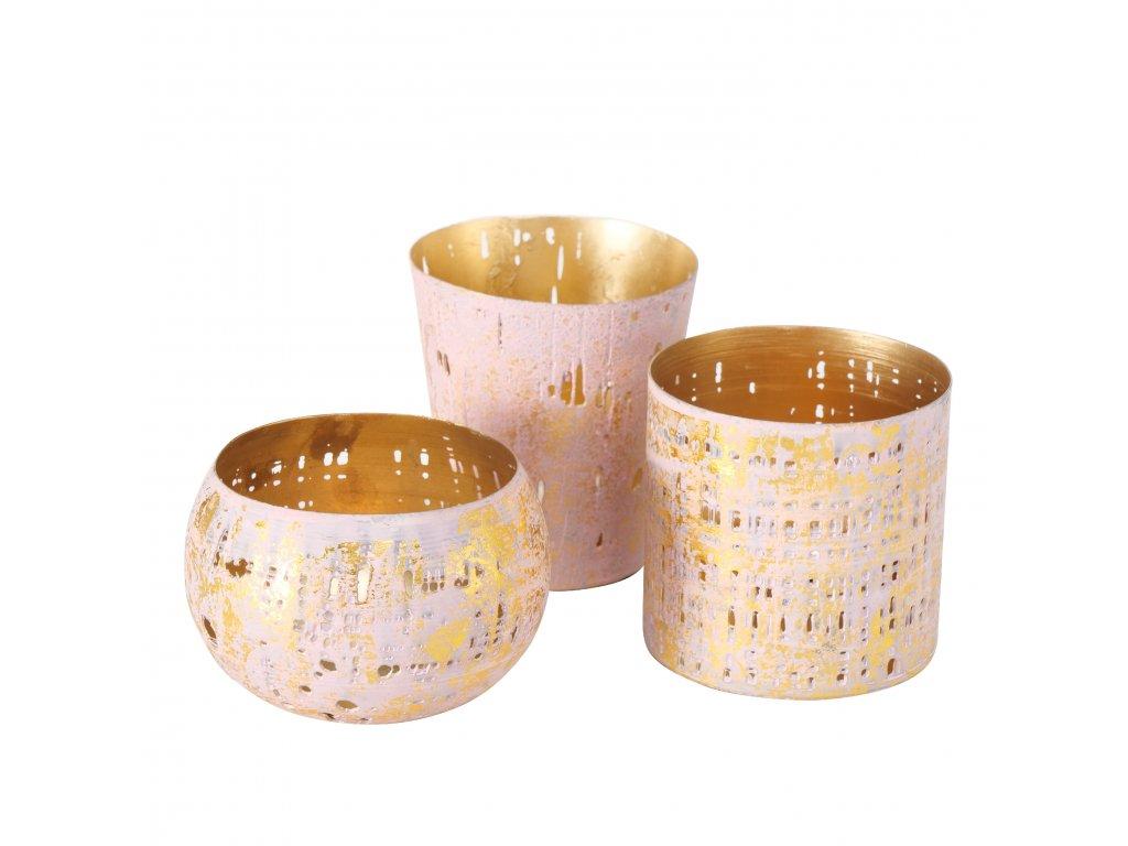 GOLDIE Set tří svícnů
