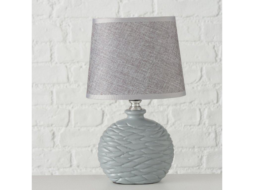 Stolní lampička NAMIO v šedé barvě
