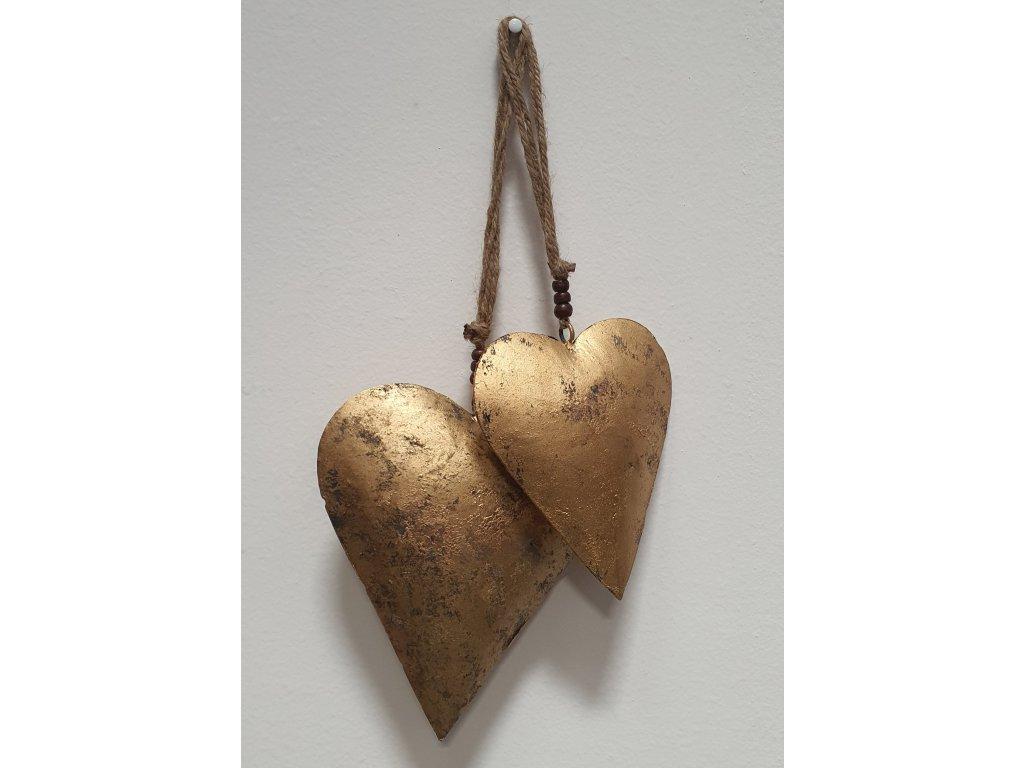 Set dvou závěsných srdcí CUORE