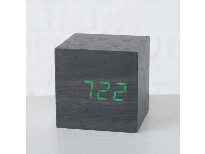 Stolové hodiny KUBÍK, dark grey