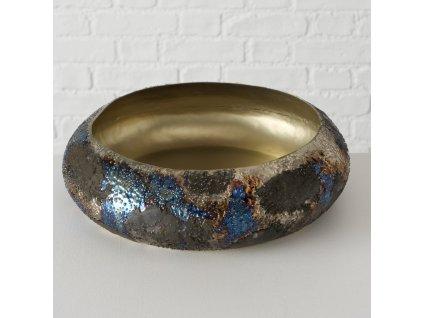 Dekorativní mísa kovová  kulatá KÁLIE