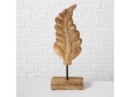 Dřevěná dekorace ve tvaru listu BLATT