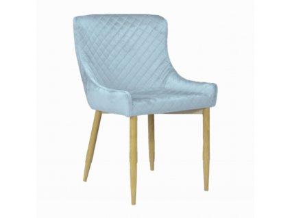 Designová jídelní židle CRYSTAL, šedý samet
