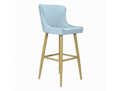 Prošívaná designová barová židle CRYSTAL, šedá