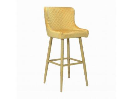 Prošívaná designová barová židle CRYSTAL, zlatá