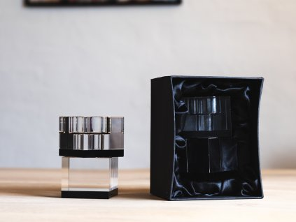 70125 Lyng candleholder black