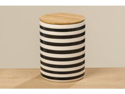 Set dvou keramických dóz na potraviny  BAMBIE, tečkovaná