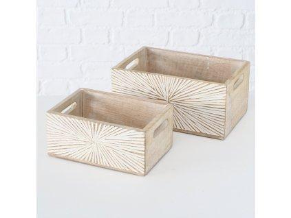 Set dvou dřevěných úložných boxů JYLLI