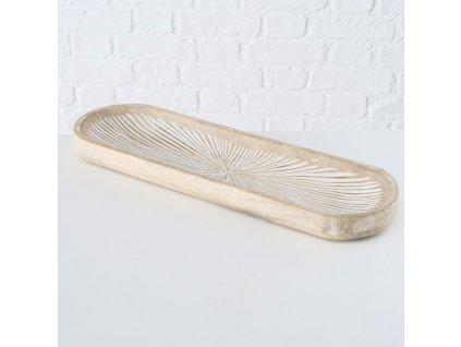 JYLLI Vyřezávaný podnos z exotického dřeva