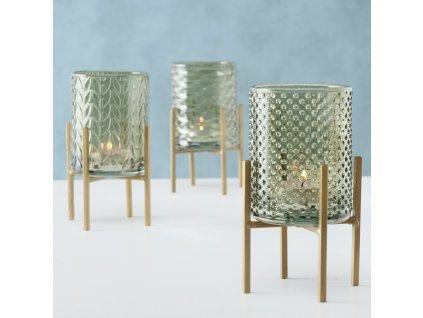 Elegantní sada svícnů ze skla BODEN