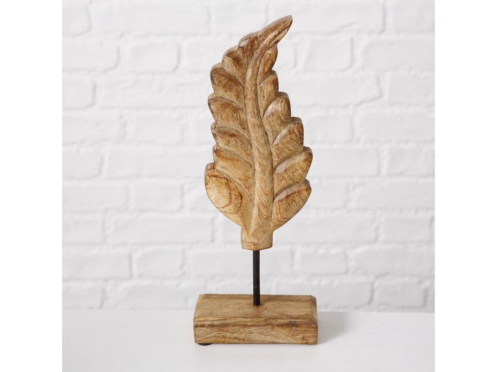 BLATT drevená dekorácia v tvare listu