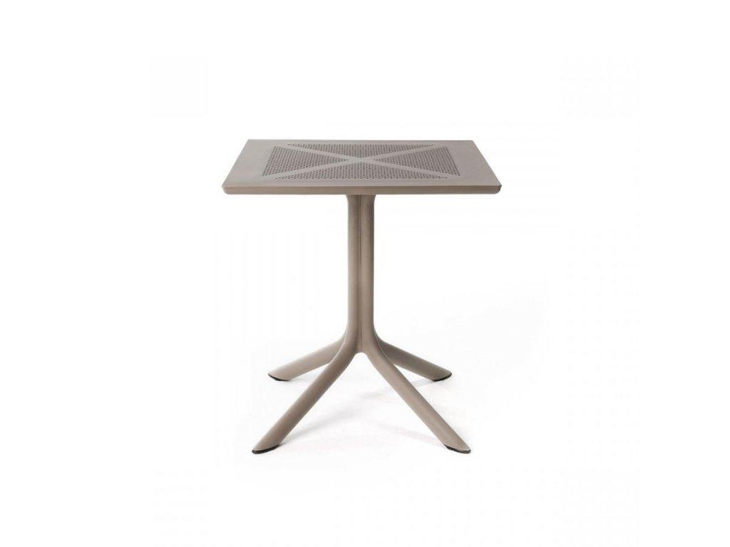 Plastový stôl CLIP 80x80 cm
