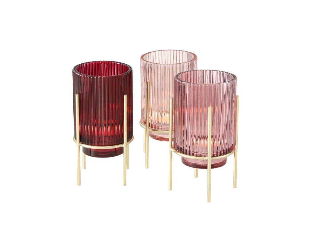 Set troch sklenených svietnikov MUZA