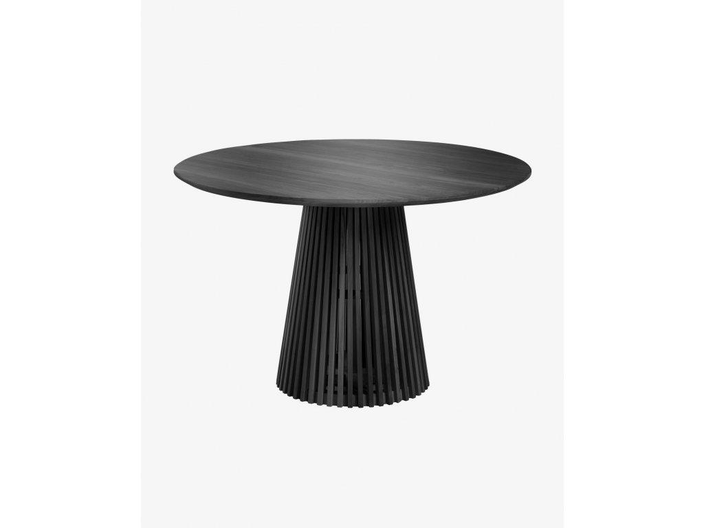 JEANETTE čierny jedálenský stôl Ø120 cm