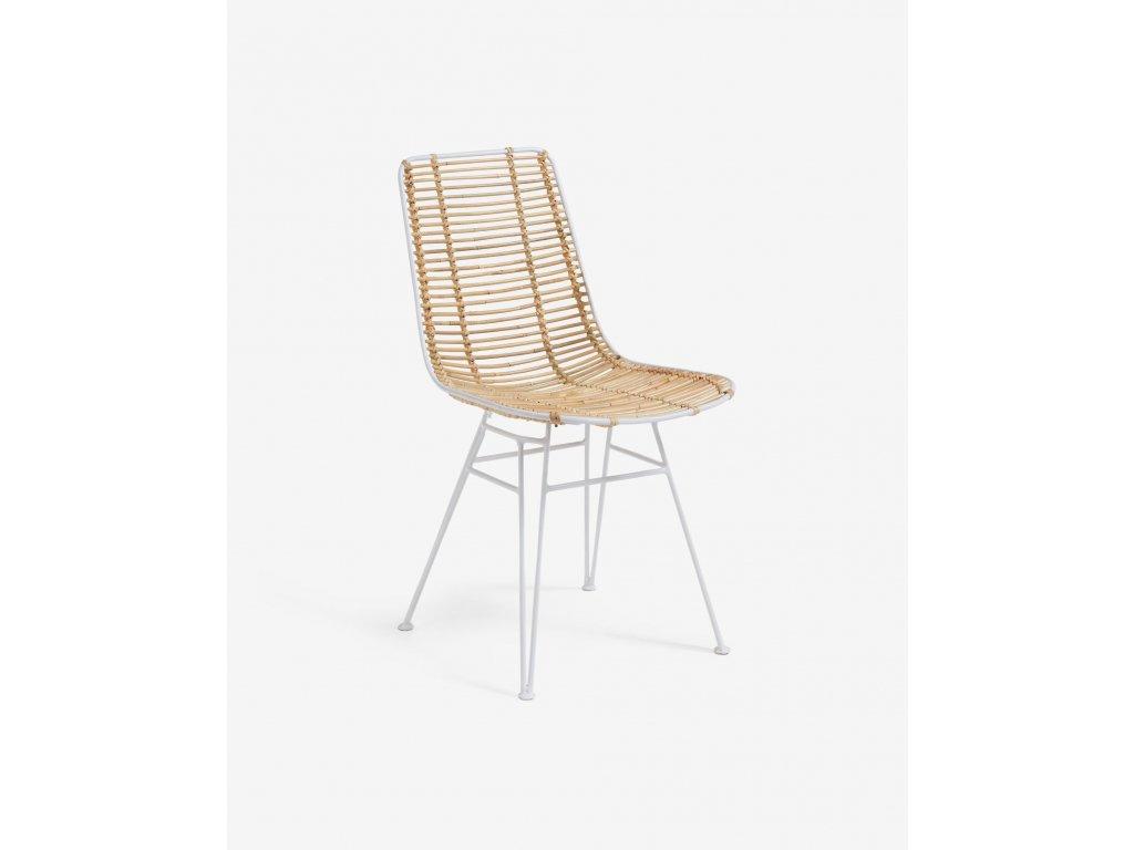 TISHANA jedálenská stolička, biela
