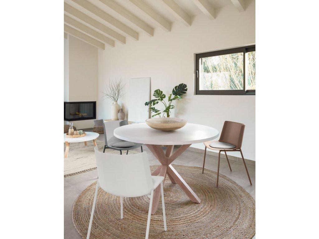 ARGO jedálenský stôl, biely Ø 119 cm