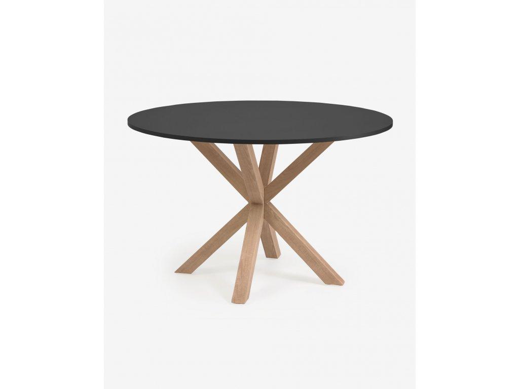 ARGO jedálenský stôl, čierny Ø 119 cm