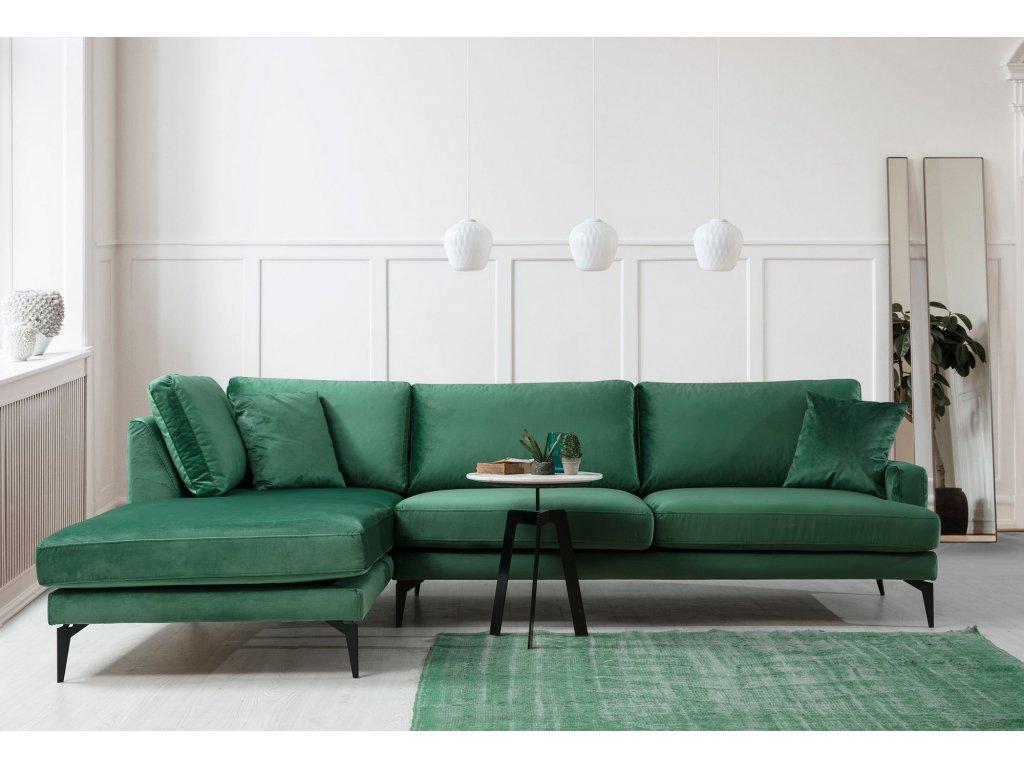 PAPIRA rohová sedačka, zelená