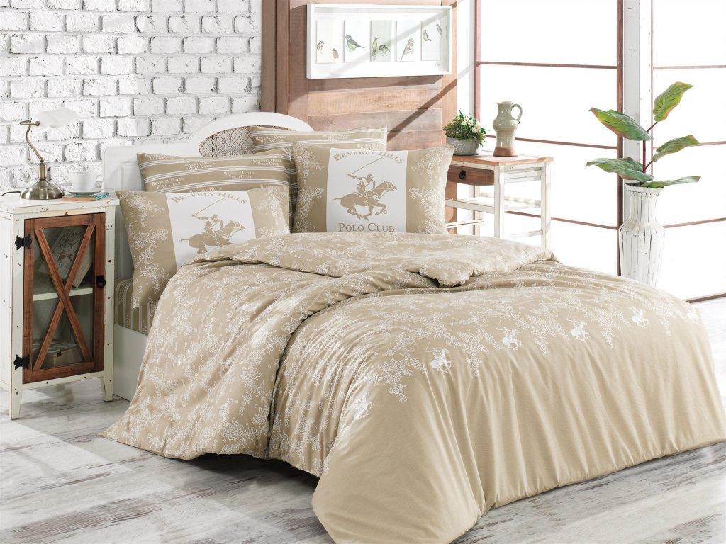 BEVERLY HILLS POLO CLUB 013 set posteľných obliečok, béžový