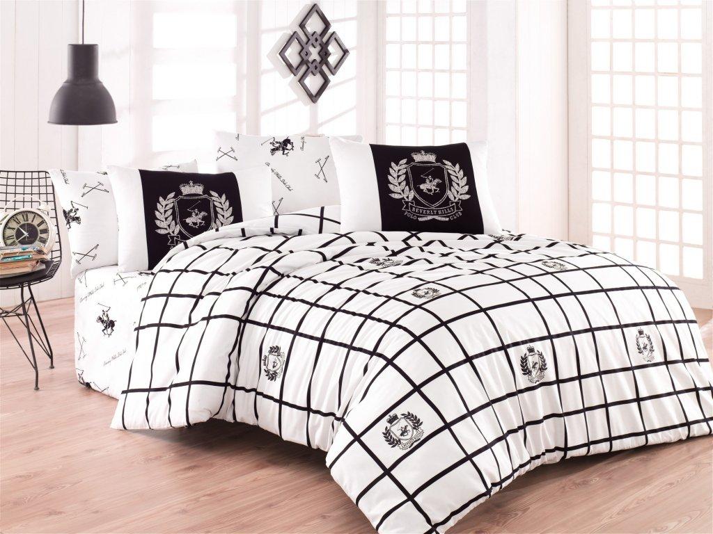 BEVERLY HILLS POLO CLUB 028 set posteľných obliečok, čierny