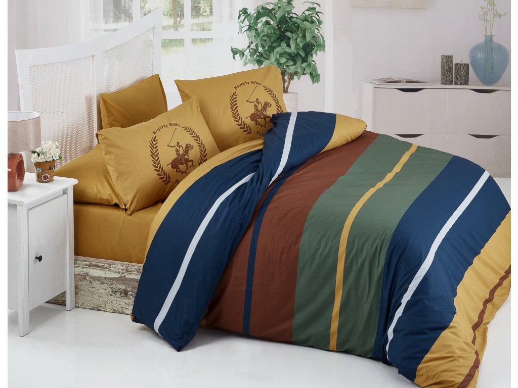 BEVERLY HILLS POLO CLUB 041 set posteľných obliečok, žltohnedá