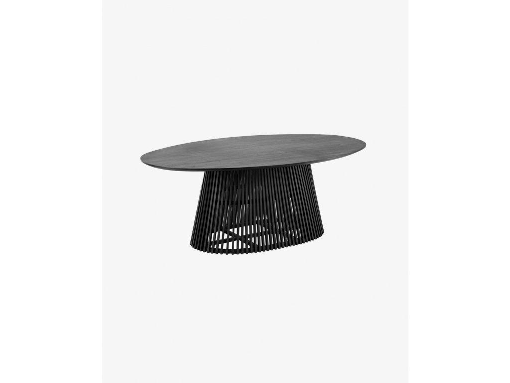 JEANETTE čierny jedálenský stôl  200 x 120 cm