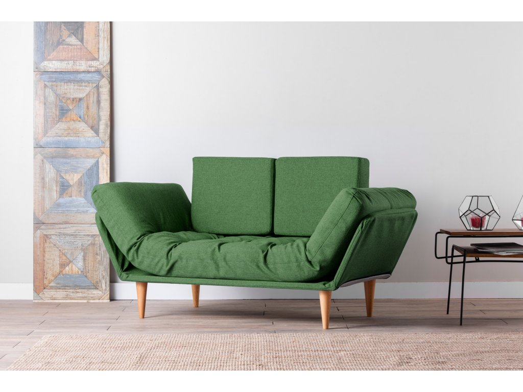 NINA rozkladacia dvojpohovka, zelená
