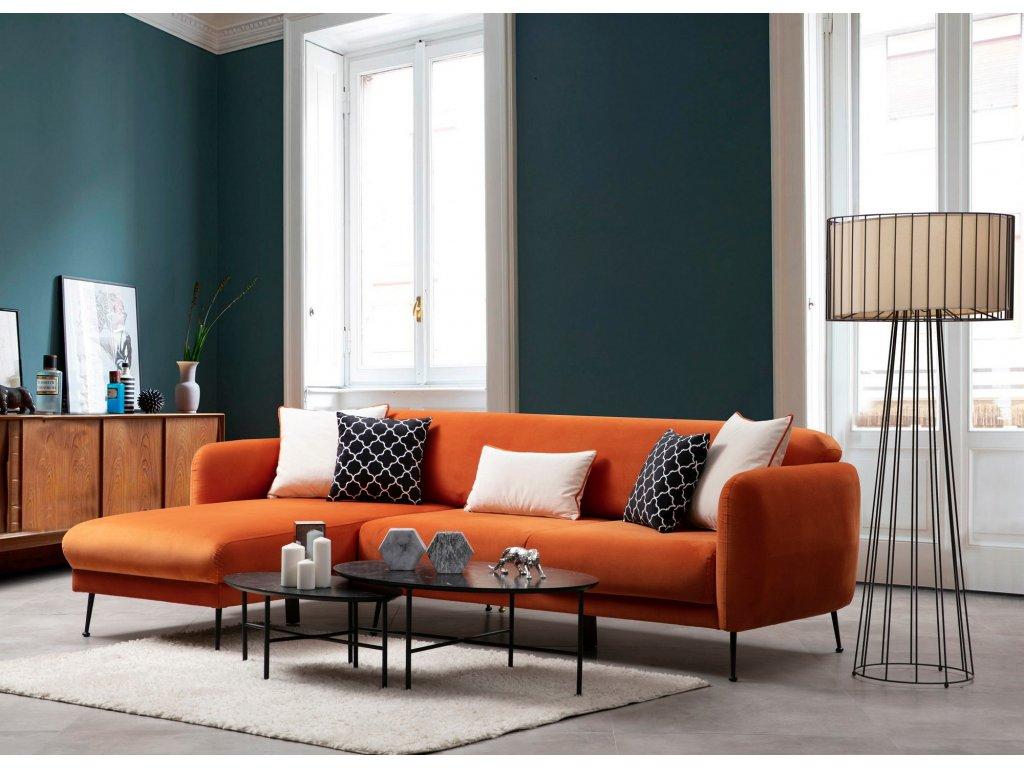 SEVILLA rohová sedačka, oranžová