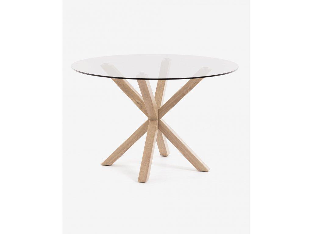 ARGO jedálenský stôl, sklenený Ø 119 cm
