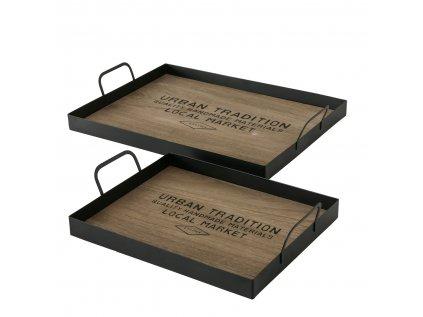 LOCAL Set dvoch drevených podnosov
