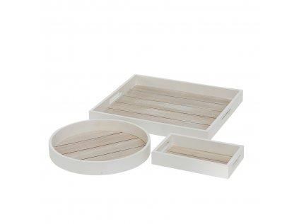 Set troch drevených podnosov TONNING