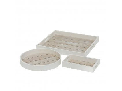 TONNING set troch drevených podnosov