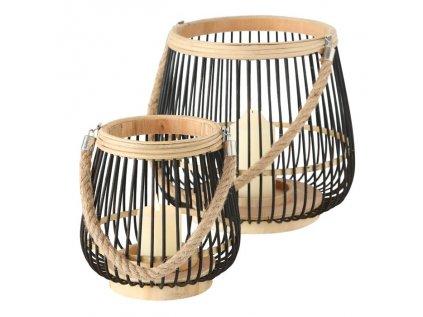 SIMBA set dvoch bambusových svietnikov