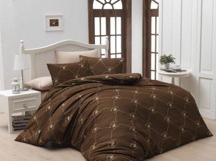 BEVERLY HILLS POLO CLUB 006 set posteľných obliečok, hnedý