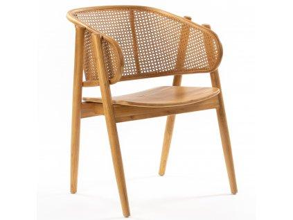 AMERICANO drevená podrúčková stolička