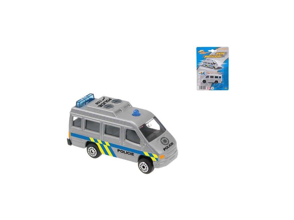 Auto kovové Policie dodávka na kartě 7 cm KOV