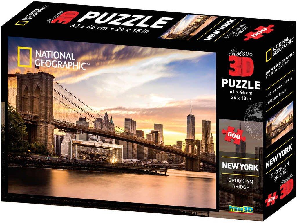 PUZZLE 3D Skládačka New York set 500 dílků 61x46cm National Geographic