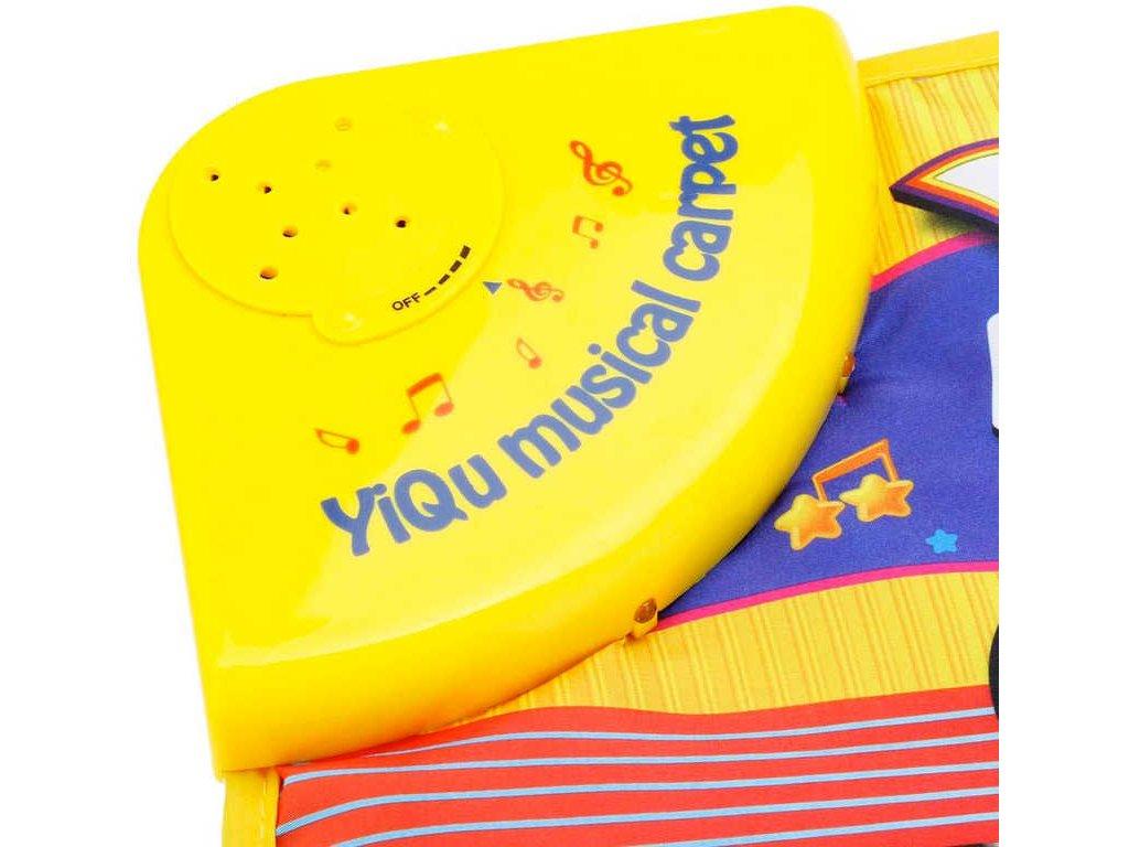 Baby pianko podlahové 73cm interaktivní dečka se zvířátky na baterie Zvuk