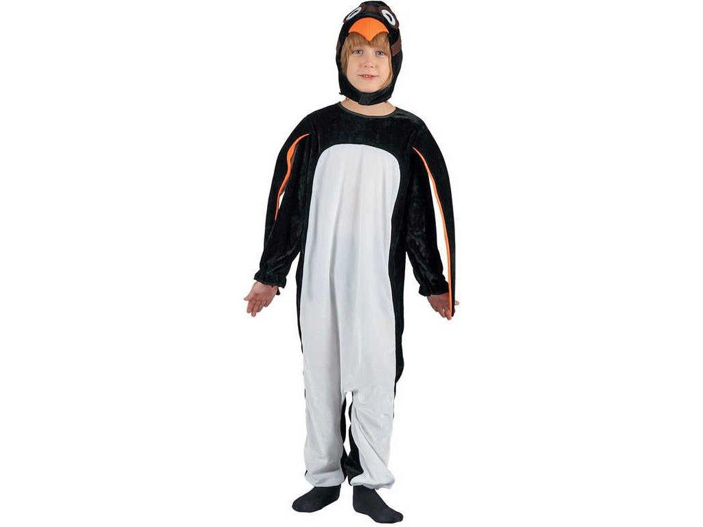 KARNEVAL Šaty tučňák vel.M (120-130 cm) 5-9 let KOSTÝM