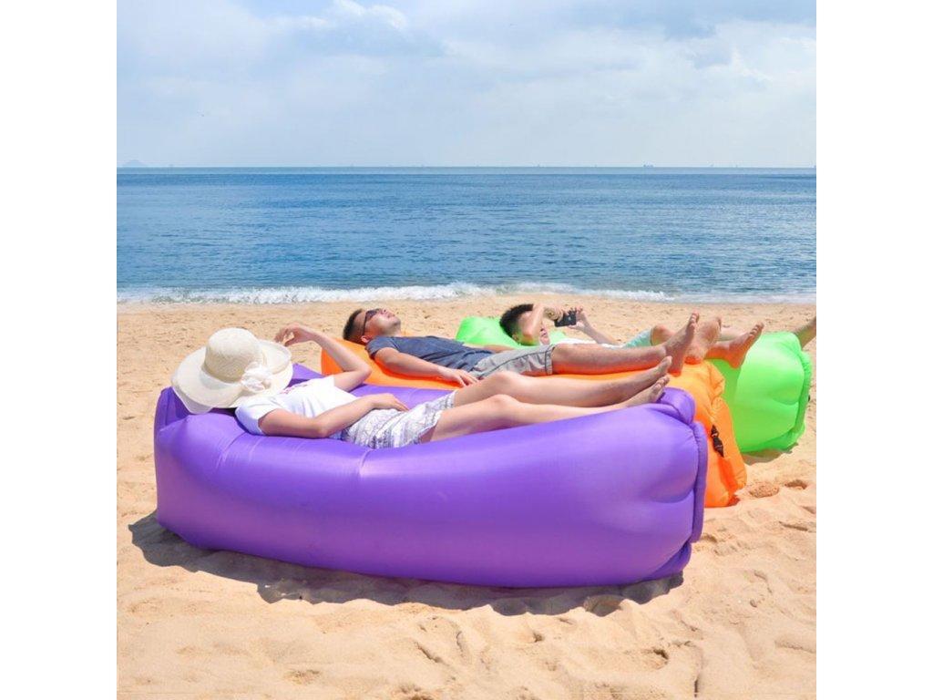 Nafukovací vak Lazy bag dvouvrstvý - fialový