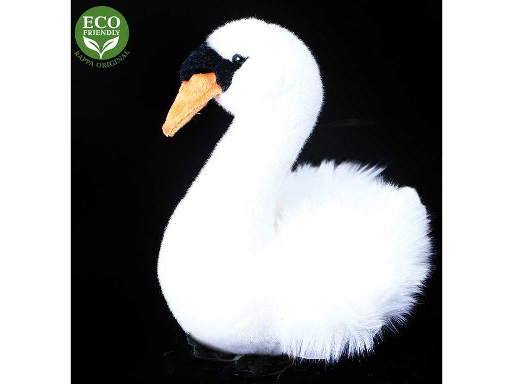 PLYŠ Pták labuť sedící 23cm Eco-Friendly *PLYŠOVÉ HRAČKY*