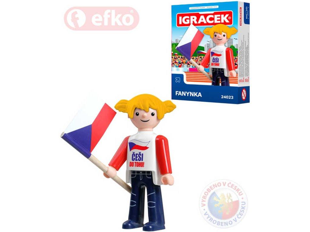 EFKO IGRÁČEK Fanynka hokejová figurka 7,5cm v krabičce STAVEBNICE